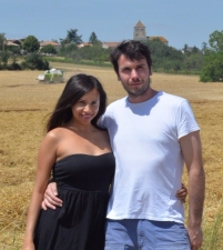 Kia and Peter in their tiny French village